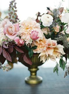 Photography: Jose Villa Photography - josevillaphoto.com Floral Design:  Nicolette Camille - nicolettecamille.com   Read More on SMP: http://www.stylemepretty.com/2016/04/20/chic-garden-wedding-with-a-rich-moody-color-palette/