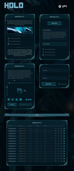Holo GUI is a beautiful Sci-Fi GUI skin for Unity. The skin's API is scripted in C#. The skin contains a custom window system which simplifies everything. The window background is stretchable witho...