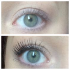 B&A One coat of loreal voluminous butterfly mascara! This stuff is insane.