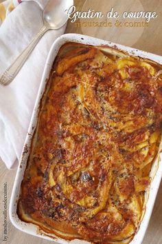 Gratin de courge butternut, moutarde et comté - Mes Brouillons de Cuisine