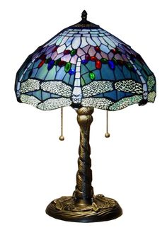 Tiffany-style Blue Dragonfly Table Lamp   Overstock.com Shopping - The Best Deals on Tiffany Style Lighting