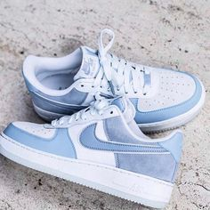 Nike Airforce 1 LTBlue Go off on emotions, dress spontaneously, just how you feel Dr Shoes, Hype Shoes, Me Too Shoes, Pink Shoes, Converse Sneaker, Sneaker Outfits, Jordan Shoes Girls, Girls Shoes, Shoes Women