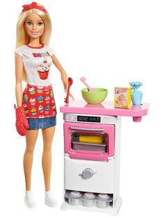 Buy a used Barbie Bakery Chef Doll And Playset. ✅Compare prices by UK Leading retailers that sells ⭐Used Barbie Bakery Chef Doll And Playset for cheap prices. Pocket Polly, Barbie Bakery, Barbie Website, Barbie Toys, Barbie Playsets, Barbie Stuff, Baby Barbie, Barbie Car, Fashion Dolls