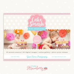 Cake smash template First birthday Cake smash by StudioStrawberry