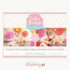 Cake smash template First birthday Cake smash by StudioStrawberry