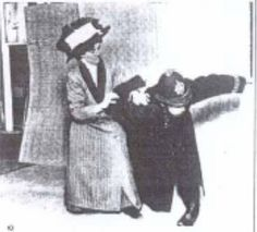 Mrs Edith Margaret Garrud (1872-1971) was the suffragette who taught the other suffragettes...jiu-jitsu. And ran a dojo. With her daughter.  article