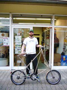 """Odd little Pedersen bike with 20"""" tires. der radladen - fahrradgeschäft in mannheim: kemper pedersen comped 20zoll"""