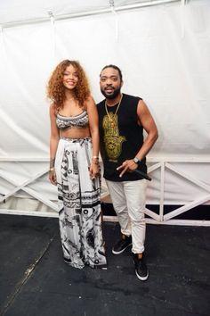 Rihanna at the 1love festival in Barbados