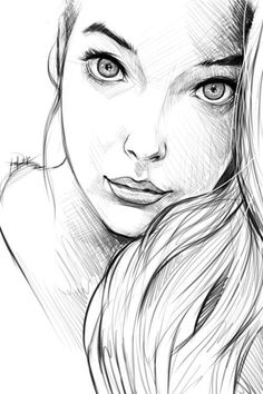 WOW!! Artist used lines simple black and white but a clear emotion in the eyes
