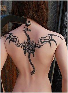 woman back dragon tattoos ejderha dövmeleri dragon tattoo for women Retro Tattoos, Trendy Tattoos, Popular Tattoos, Tribal Tattoos, Chinese Tattoo Designs, Dragon Tattoo Designs, Tattoo Designs For Girls, Tattoo Designs Men, Henna Designs