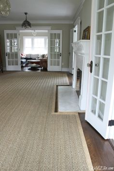 Custom cut area rugs are the perfect solution for large or awkward rooms. Natural seagrass, jute or sisal is a great neutral choice rug for any room. Living Room Rugs Uk, Living Room Carpet, Room Size Rugs, Rug Size, Custom Area Rugs, Carpet Size, Custom Carpet, Modern Bedroom Design, Rugs On Carpet