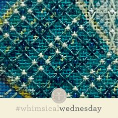 #whimsicalwednesday blog — whimsicalstitch.com I Respect You, Needlepoint Stitches, Needlework, Color Lines, All The Colors, Geometry, City Photo, Whimsical, Blog