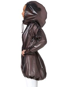 Lower East Side - Hooded Parka - Chocolate (also in Midnight Blue) -Drawstring hood, waist, and sleeves -Hood large enough to accommodate a bicycle helmet -Ventilation system -100% water resistant -He