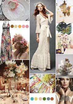 Boho chic wedding inspiration board - Papaver Designs
