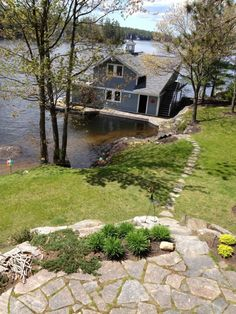 Meredith Heron Design  Muskoka Cottage Boat House