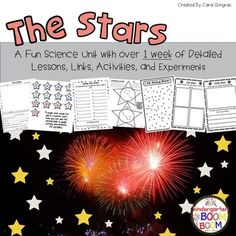 If you are needing some lessons/ideas to make Science FUN, this unit is for you! Inside this pack you will find Hidden Stars, Can Constellations, Star Colors and so much more!This is a unit for discovering our Stars and constellations. It includes over 1 week of detailed lessons, links, activities, and hands on, kid friendly experiments.Included in this pack are:2 pages of Unit tips, links, videos, and books to use11 pages of detailed lessons, activities, and hands on experiments38 pages of…
