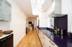 Purple Glass tops, and splashbacks.. Lovely!