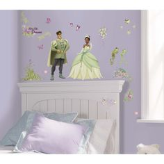 The Princess And The Frog Wall Decals Roommates Cute Accents For A Purple Princess Room Peel And Stick Installation Allows Your Little Princess To Help In