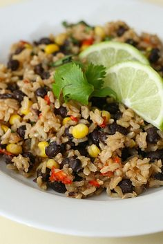 brown rice with black beans by annieseats