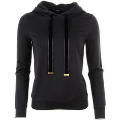 Gucci Black Cotton Jersey Hooded Top ($585) ❤ liked on Polyvore featuring tops, hoodies, outerwear, sweatshirt, shirts, gucci hoodies, gucci tops, shirt top, hooded pullover and gucci shirts