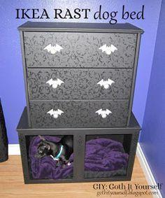 GIY: Goth It Yourself: IKEA Rast Dog Bed