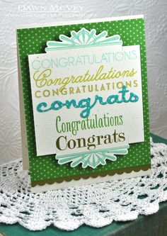 Many Congratulations Card by Dawn McVey for Papertrey Ink (November 2013)