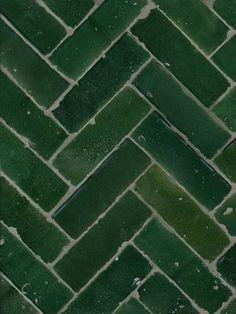 Emerald green tiling