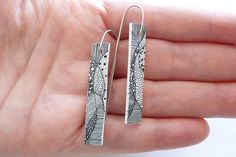 combine two things you are good at!!--#6/52 Zentangle earrings | Flickr - Photo Sharing!