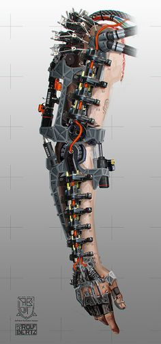 Cybernetic augmentated hand by roflrolf