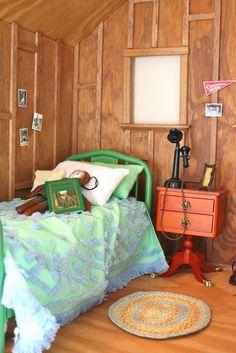 pippaloo for dolls: The Dollhouse Tour. pippaloo for dolls: The Dollhouse Tour. American Girl Bedrooms, American Girl House, American Girl Doll Room, American Girl Crafts, American Dolls, Ag Dolls, Girl Dolls, Girls Dollhouse, Dollhouse Dolls