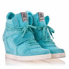 Ash Footwear Cool Wedge Sneaker Celadon Suede/ Canvas 330012 – Ash Womens Sneakers