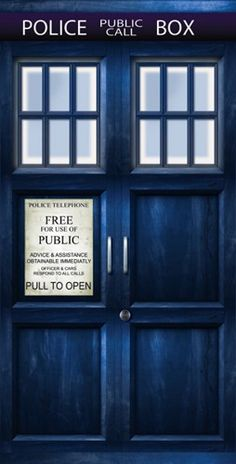 Tardis Door Sticker Helps You Enter Space & Time From Anywhere In Your Home - Door Stickers, Wall Decor Stickers, Tardis Door, Doctor Who Poster, Doctor Who Wallpaper, Door Murals, 11th Doctor, Police Box, Space Time