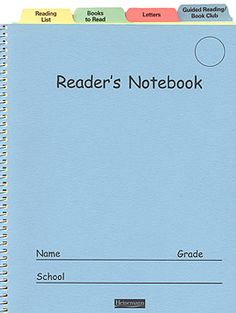 Love Reader's Notebook! Went to professional development that showed how to make these!!