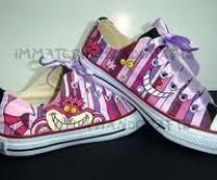 Cheshire Cat Converse Shoes - want!!!