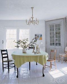 white floor ben moore deck paint via elle decor