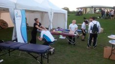 Onsite physio at your sporting events.