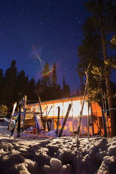 The newly built Bench Hut Yurt in the Sawtooth Mountains of Idaho - Sun Valley Magazine - Sun Valley, Idaho