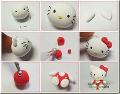 hello kitty polymer clay tutorial   Polymer Clay Tutorial: Hello Kitty   Where Gastronomy Meets Art - would love to make one of these for my niece Abbie!!!!