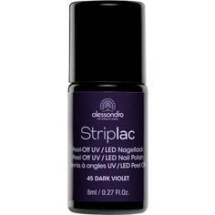 Alessandro Striplac 45 Dark Violet. De nieuwe generatie nagellakken. Zonder droogtijd en de nagel ontziend verwijderen zonder oplosmiddel of vijlen.