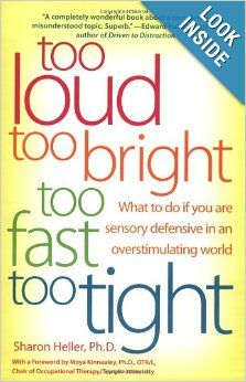 This is a great book for The Highly Sensitive Person or those who experience sensory overload - it has some good tips.