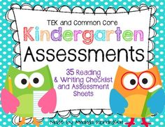 A full year of Kindergarten Assessments {TEK and CCSS aligned} Currently off! Kindergarten Assessment, Reading Assessment, Kindergarten Reading, Kindergarten Classroom, Classroom Ideas, Creative Teaching, Teaching Kids, Teaching Resources, Preschool Learning