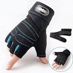 Weight Lifting Gym Gloves Workout Wrist Wrap Sports Exercise Training Fitness ** You can find more details by visiting the image link.
