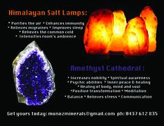 Himalayan Salt Lamps.