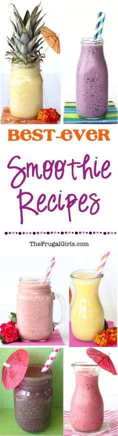 Best Ever Smoothie Recipes! ~ from TheFrugalGirls.com ~ you'll LOVE these easy, healthy and seriously delicious Smoothies!