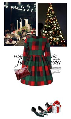 """""""Festa"""" by stellina-from-the-italian-glam ❤ liked on Polyvore featuring dress, trends and xmas2016"""