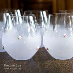 "Svatební dar_ originální sada sklenic na \""šnaps\"" Wine Glass, Sad, Tableware, Dinnerware, Tablewares, Dishes, Place Settings, Wine Bottles"
