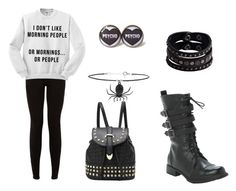 """""""Something I'd wear in the fall to school"""" by onyx-silverwolf ❤ liked on Polyvore featuring Replay and Topshop"""