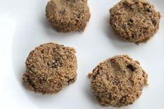 NO BAKE COOKIE DOUGH --- 1/2 C almond meal/ground oats 1/4 C nut butter 1/4 C maple syrup 2 T choc chips pinch salt 1 tsp. vanilla
