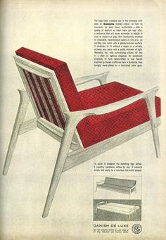Vintage chairs advertising - danish deluxe inga lounge furniture