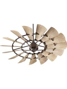 Quorum Windmill Oiled Bronze Ceiling Fan with Weathered Oak blades - Rustic Ceiling Fans - Deep Discount Lighting 60 Inch Ceiling Fans, 60 Ceiling Fan, Bronze Ceiling Fan, Ceiling Fan With Remote, Ceiling Decor, Ceiling Ideas, Rustic Ceiling Fans, Industrial Ceiling Fan, House Ceiling